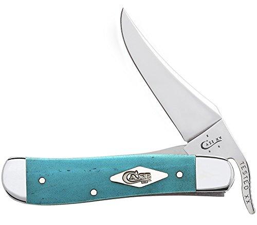 Case Smooth Caribbean Blue Bone Handle Russlick Pocket Knife