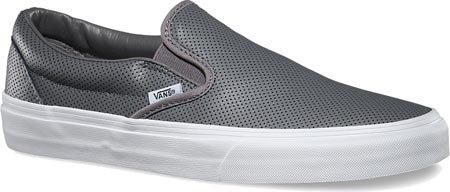 Vans - Classic Slip-on, Zapatillas Unisex adulto Grau ((Perf Leather) smoked pearl)