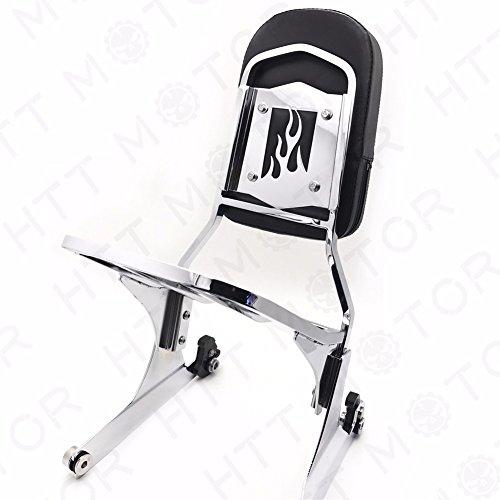 - NEW Detachable Sissy Bar Backrest & Luggage Rack for Harley FATBOY Softail FLSTN