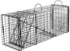Groundhog Transfer Trap (Live Animal Trap: Raccoon, Oppossum or Groundhog Transfer Trap with Rear Sliding Door)