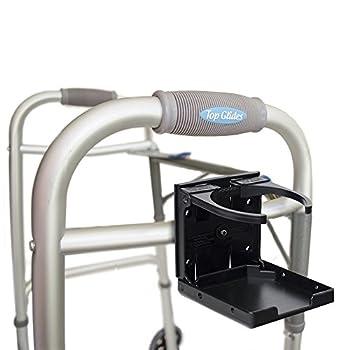 Universal Folding Walker/Wheelchair/Rollator Cup Holder (Black)