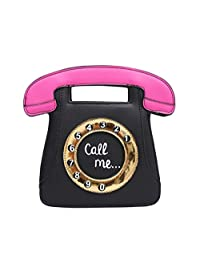 Skyseen Telephone Shape Girls PU Leather Clutch Purse Crossbody Bag Shoulder Handbags