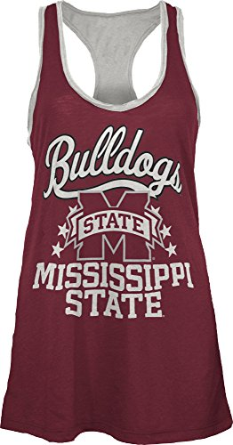 Three Square by Royce Apparel NCAA Mississippi State Bulldogs Nelly Tank, Large, - Square Logo State Mississippi