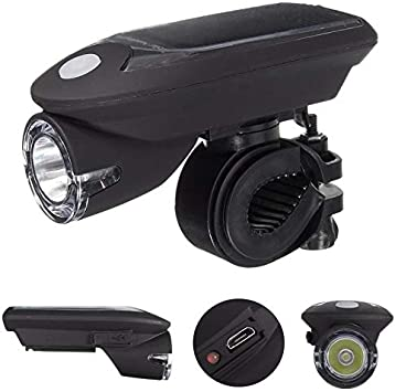 Waterproof USB Rechargeable LED Bicycle Front Headlight Taillight Rotate 360 New