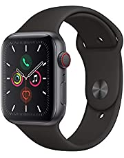 Apple Watch Series 5 (GPS + Cellular, 44 mm) Boîtier en Aluminium Gris Sidéral - Bracelet Sport Noir