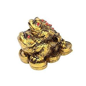 Divya Mantra Three Legged Double Money Toad Yellow