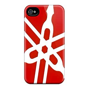Scratch Resistant Hard Phone Cover For Iphone 4/4s (HQM668zGXG) Allow Personal Design Fashion Yamaha Series