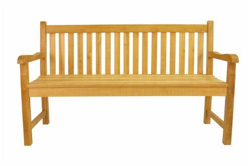 (Anderson Teak Classic 3-Seater Bench, Maxim Heather Beige)