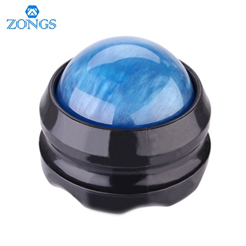 ZONGS Manual Massage Ball Pain Relief Back Roller Massager Self Massage Therapy and Relax Full Body Tools for Sore Muscle Joint Pain Essential Oils or Lotion Relax (Blue)