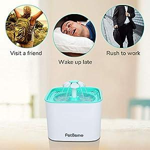 Petbemo Pet Fountain Cat Water Dispenser Drinking
