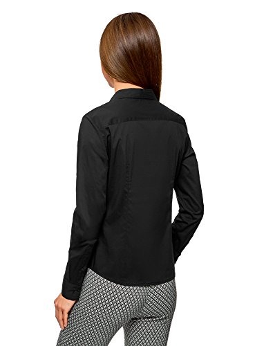 en Col Basique Noir oodji Femme V Chemise Ultra 2900n pX7XHIPn