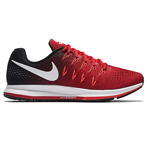 Nike Men's Air Zoom Pegasus 33, University Red/White/Black - 8.5 D(M) - Wearhouse Men's Orange