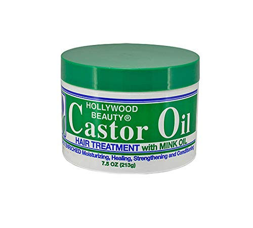 Hollywood Beauty Castor Oil Hair Treatment with Mink Oil, 7.5 Ounce (Best Mink Oil Brand)