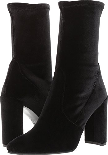 Stuart Weitzman Women's Clinger Ankle Boot Nero Stretch Velvet