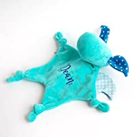 Monogram Secutity Blanket Baby Teether Blankie Dragon Boy
