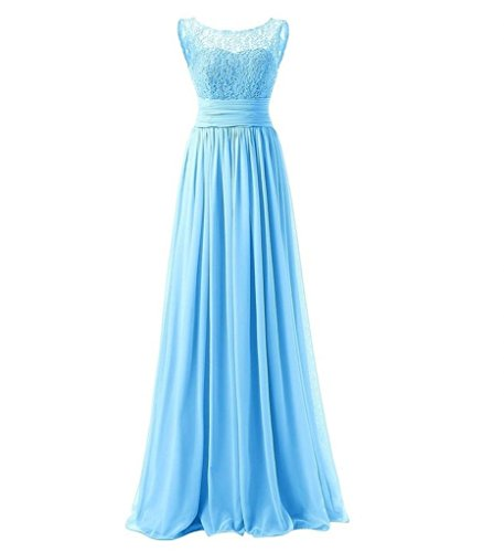 Brautjungfernkleider Braut Elegant Jugendweihe La Kleider Lang Damen Blau Festliche Marie Kleider Abendkleider F7x4vU