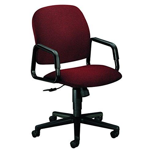 HON 4001AB62T Solutions Seating High-Back Swivel/Tilt Chair, Olefin, Burgundy