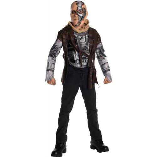 [Terminator Salvation Movie Child's Costume Deluxe T600, Small] (Boy Robot Halloween Costume)