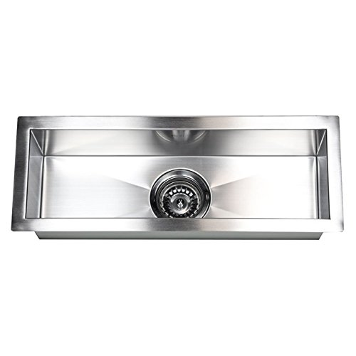 ARIEL F2308 23 Inch Zero Radius Design Undermount Stainless Steel Bar/Prep Sink by ARIEL