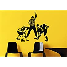 Vinyl Wall Decal Sticker Bedroom Kids Hockey Player Goalkeeper puck Boys r1505