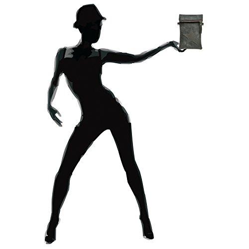 Bandolera Oscuro Caspar Gris Mujer Pequeño Con Ts1027 Estrella Para Bolso De Sobrecosido qHwHxfS1t