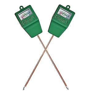 Mudder Soil Moisture Sensor Meter Hydrometer, Soil Water Monitor for Gardening, Farming (2 Pack)
