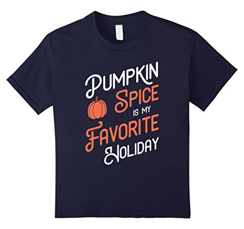 Kids Pumpkin Spice is my Favorite Holiday - Halloween T-Shirt 12 Navy (Halloween Is My Favorite Holiday)
