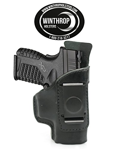 - Winthrop Holsters IWB Single Spring Clip Black Leather Holster (Springfield XDS 3.3#0465)