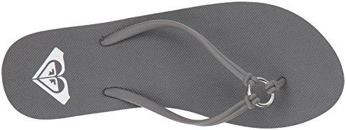 Grey Dark Sandals Solis Roxy Flop Flip Women's fY7xRca