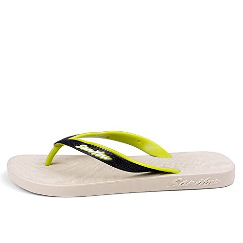 Classic amp;Baby Size Color Red Flip Thong Durable MUS Sunny 9 Beach Slipper Green Men's Flops Sandy qBdttx4wR