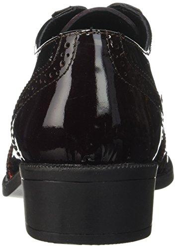 Donna Noir Bordeaux Noir Nero Stringate Wilson Elle Scarpe Ax4naTt6