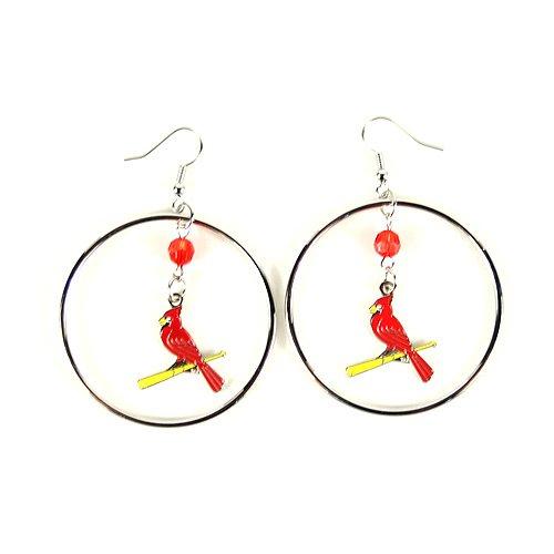 MLB St. Louis Cardinals Color Bead Hoop Earrings (Gear Louis Cardinals)