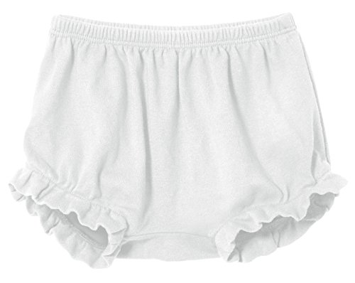 City Threads Baby Girls' and Boys' Ruffled Diaper Covers Bloomers Soft Cotton Fashionable Cute, White, 3T
