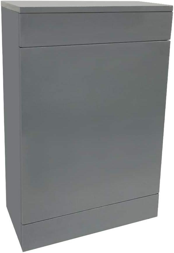 NRG Bathroom Mirror Cabinet Wall Storage Cupboard Gloss Grey Furniture 450mm