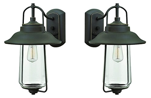 Hinkley 2864OZ Transitional One Light Wall Mount from Belden Place Collection in Bronze/Dark Finish (2 Pack)