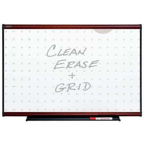 Mahogany Frame Whiteboard (Quartet Prestige Total Erase Whiteboard, 3 x 2 Feet, Mahogany Finish Frame)