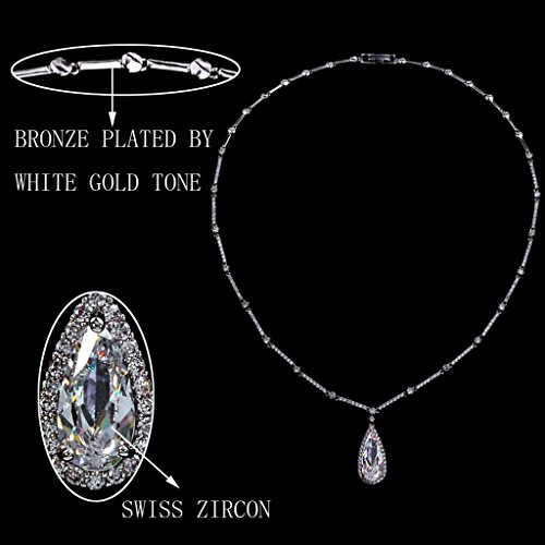 Ever Faith - Joli Goutte Transparent Zircon Parures Bijoux Plaqué Argent N03535-1