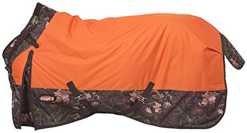 Tough 1 Timber 1200D Waterproof Poly Snuggit Turnout Blanket, Orange, 81""
