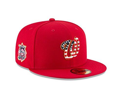 (New Era Washington Nationals 2018 Stars & Stripes 4th of July 59Fifty Hat (7 7/8))