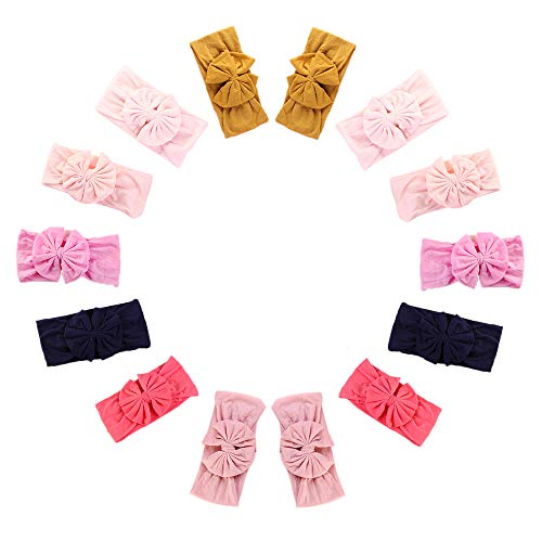 Newborn Baby Headbands with Knotted Bows, Girl's Hairbands for Newborn,Toddler and Children]()