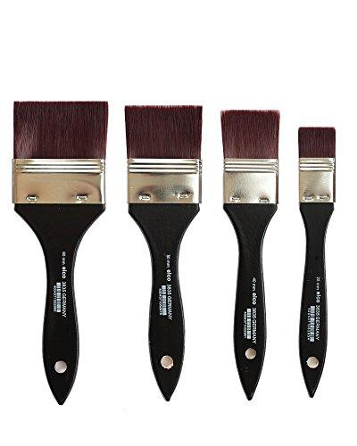 Breite Lasurpinsel Künstler Pinsel Set feinster Qualität ( Breite 60 mm, 50mm, 40 mm, 25 mm) Künstlerpinsel Set Grundierpinsel