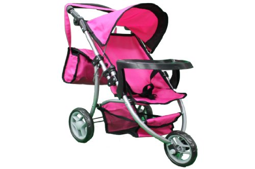Mommy & me Doll STROLLER with FREE carriage bag #9377B-T