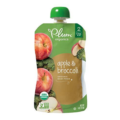 (Plum Organics Stage 2, Organic Baby Food, Apple and Broccoli, 4 Ounce)