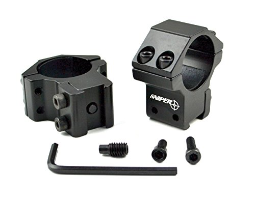 SNIPER Airgun/.22 Medium Profile Compact Scope Ring, 2 Piece, Dovetail