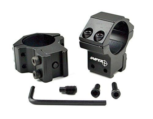 SNIPER Airgun/.22 Medium Profile Compact Scope Ring, 2 Piece, Dovetail For Sale