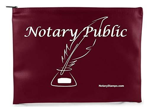Burgundy Notary Supply Bag