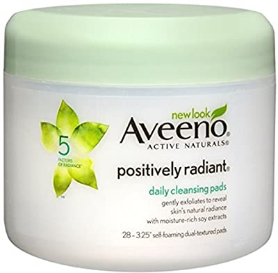 AVEENO Active Naturals Positively Radiant Daily Cleansing Pads 28 Each