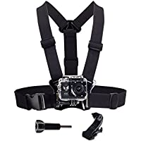 Defway Chest Strap Belt Mount Adjustable Harness for GoPro Hero, Beownwear Action Camera