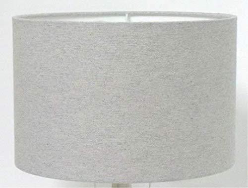 Pantalla para lámpara de mesa o de techo (25 cm), color gris ...