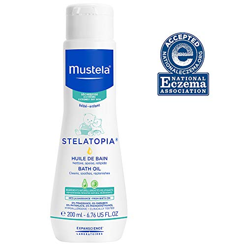 Mustela Stelatopia Bath Oil, Baby Bath Oil, for